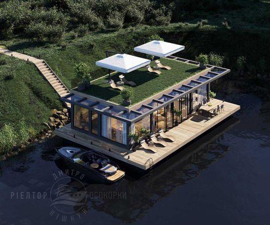 Дом на воде на берегу Днепра !! Свой пляж, причал. Участок 6 соток !
