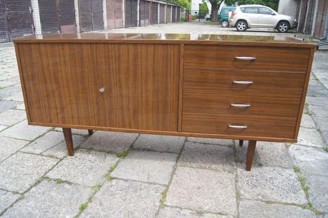 Komoda sideboard szafka vintage PRL design