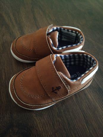 Первая обувь. Обувь для мальчика на годик Carters, мокасины.