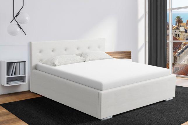 Łóżko sypialniane tapicerowane różne wymiary PROMOCJA stelaż+pojemnik