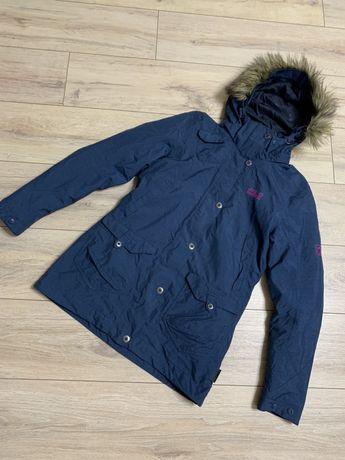 Jack wolfskin, удлиненная зимняя куртка, женская парка. Оригинал. Р. S