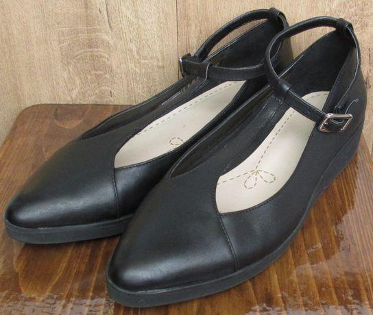 Балетки туфли мокасины Clarks 39 размера, стелька 25,5см Оригинал