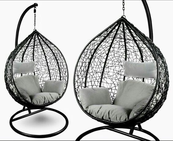 Fotel wiszący bujany ogrodowy kosz huśtawka