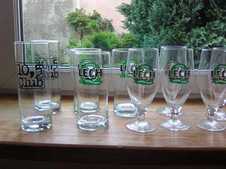 Szklanki do piwa Lech, 10,5 - 11 sztuk