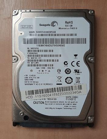 Продам Жесткий диск Seagate 500 GB, 2,5 дюйма