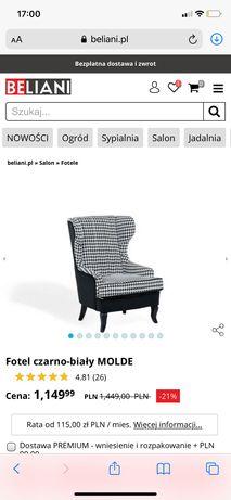 Fotel Uszatek Beliani -nowy ,,sklep 1400