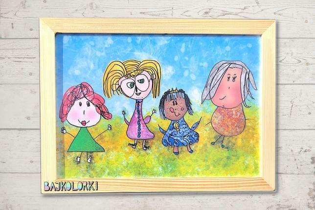 """Obrazek dla dziecka """"Kobietki"""" - Bajkolorki"""