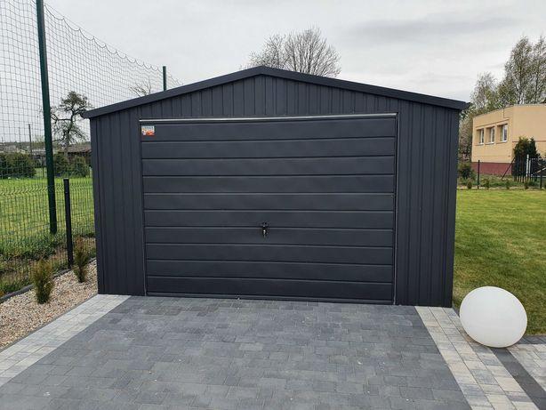 Garaż blaszany 4x6 czarny mat