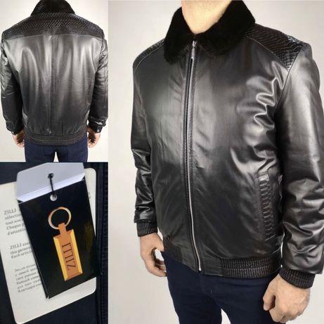 Продам дублянку Zilli шкіряна куртка кожаная куртка мужская дубльонка/