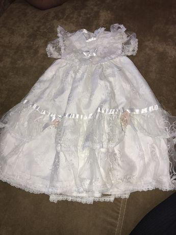 Sukienka cala koronkowa do chrztu 74/80