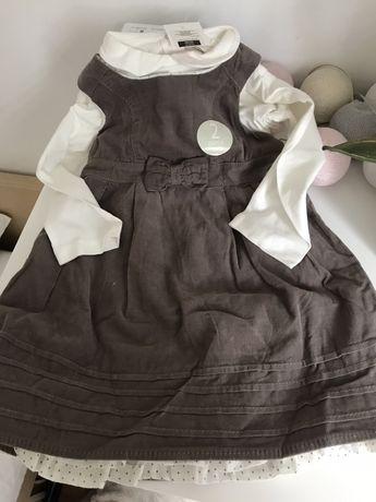 Sukienka sukieneczka ciepła Cool Club NOWA z kolnierzykiem