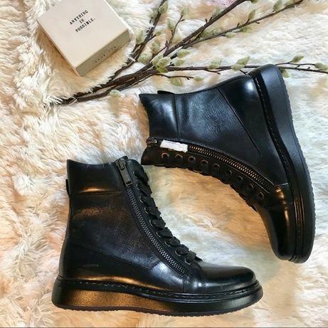 Ботинки мужские кожаные Karl Lagerfeld Оригинал Размер 43 - 44