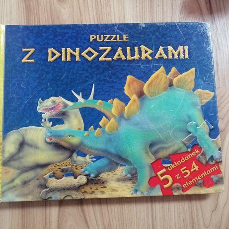 Puzzle z dinozaurami 5 szt
