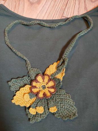 Naszyjnik zrobiony na szydełku / rękodzieło / handmade