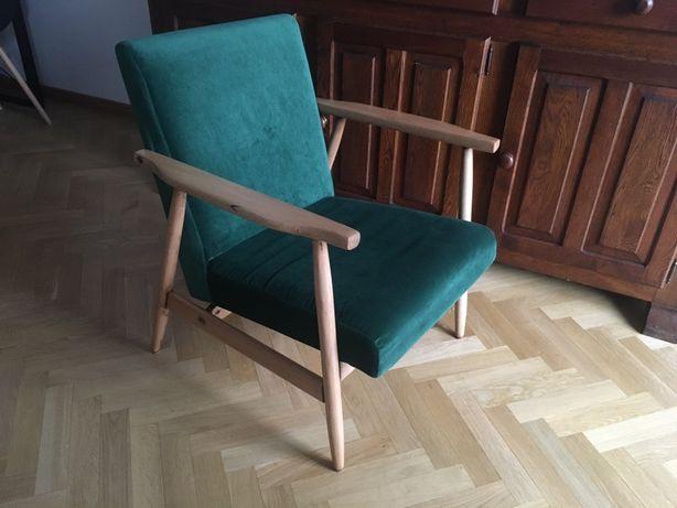 Fotel vintage PRL odrestaurowany mid century