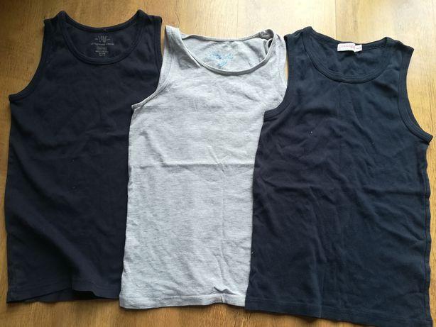 Koszulki na ramiączka chłopięce rozm. 146-152, 158-164