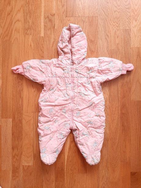 Комбинезон розовый демисезон H&M на рост 62 см, на 3 месяца, б/у