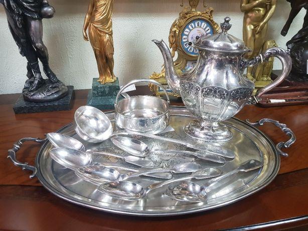 посуда серебро 84 (царская россия ) поднос сахарница половник ложки