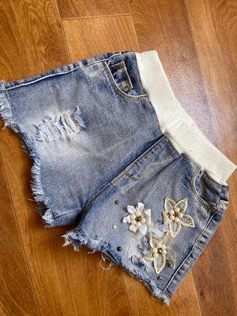 Продам джинсовые шорты на девочку