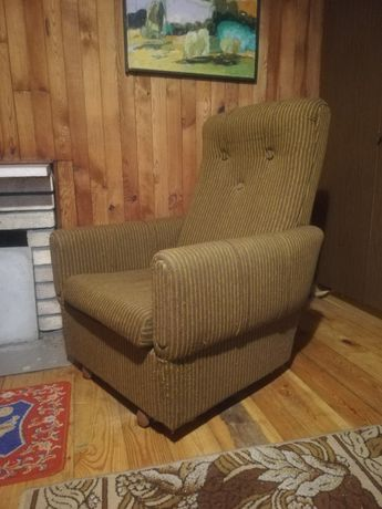 Fotel PRL - dąb, buk