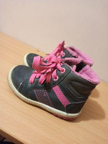 Демисезонные ботинки на флисе, кроссовки на девочку