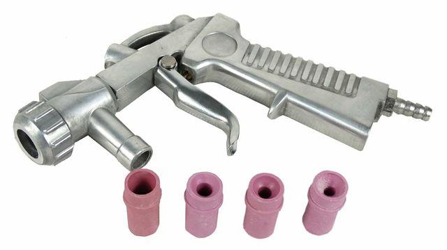 Pistolet do piaskowania NOWY + 8 dysz