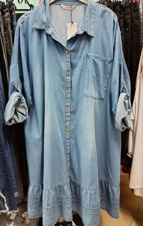 Tuniko sukienka ala jeans r 50