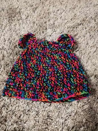 Czapka ciepła dziecięca HAND MADE w modnym kolorze
