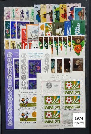 Znaczki pocztowe Rocznik1974czysty,pelny