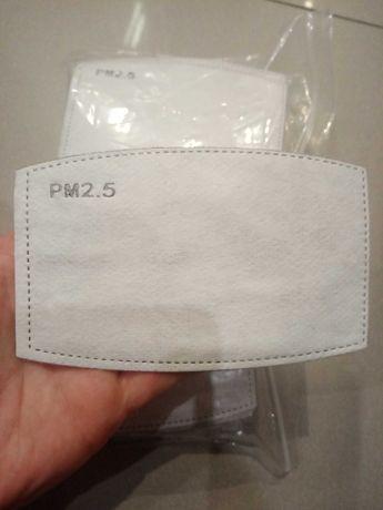 Filtry, wkład do maseczek, PM 2.5, węgiel aktywny, 2 x 50szt, 1 gratis