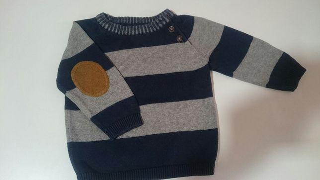 Piekny delikatny sweterek h&m 68 rozmiar