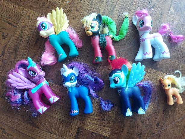 Pony Hasbro 6 szt duzych kucyków plus gratis
