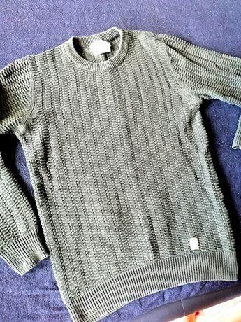Ciemno zielony sweter NO7 roz. M