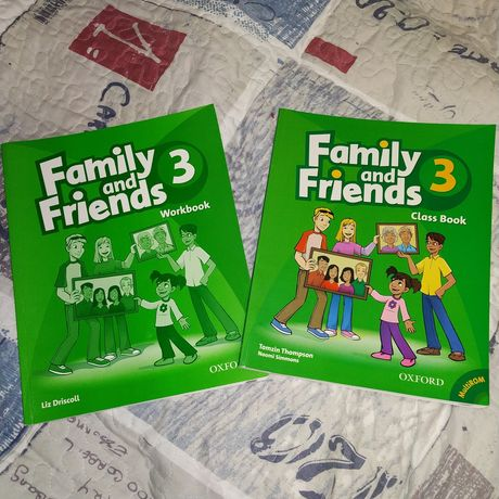 Family and Friends 3 Classbook Workbook MultiROM Книжки OXFORD. Нові.