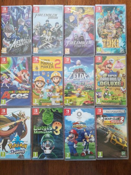 Jogos Nintendo Switch Fire Emblem Three Houses, Toki, Gear Club etc