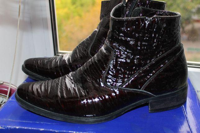 Ботинки деми кожа идеал.сост.,демисезонние ботинки,черевики шкіра