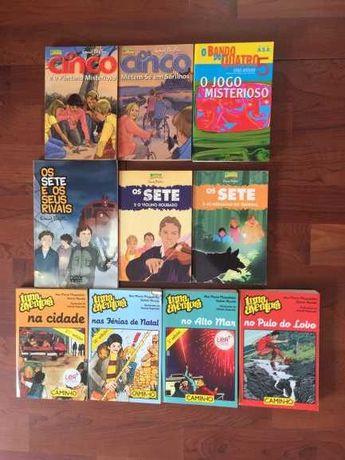 Livros (10) de aventuras infantis - Cinco, Sete, Uma Aventura