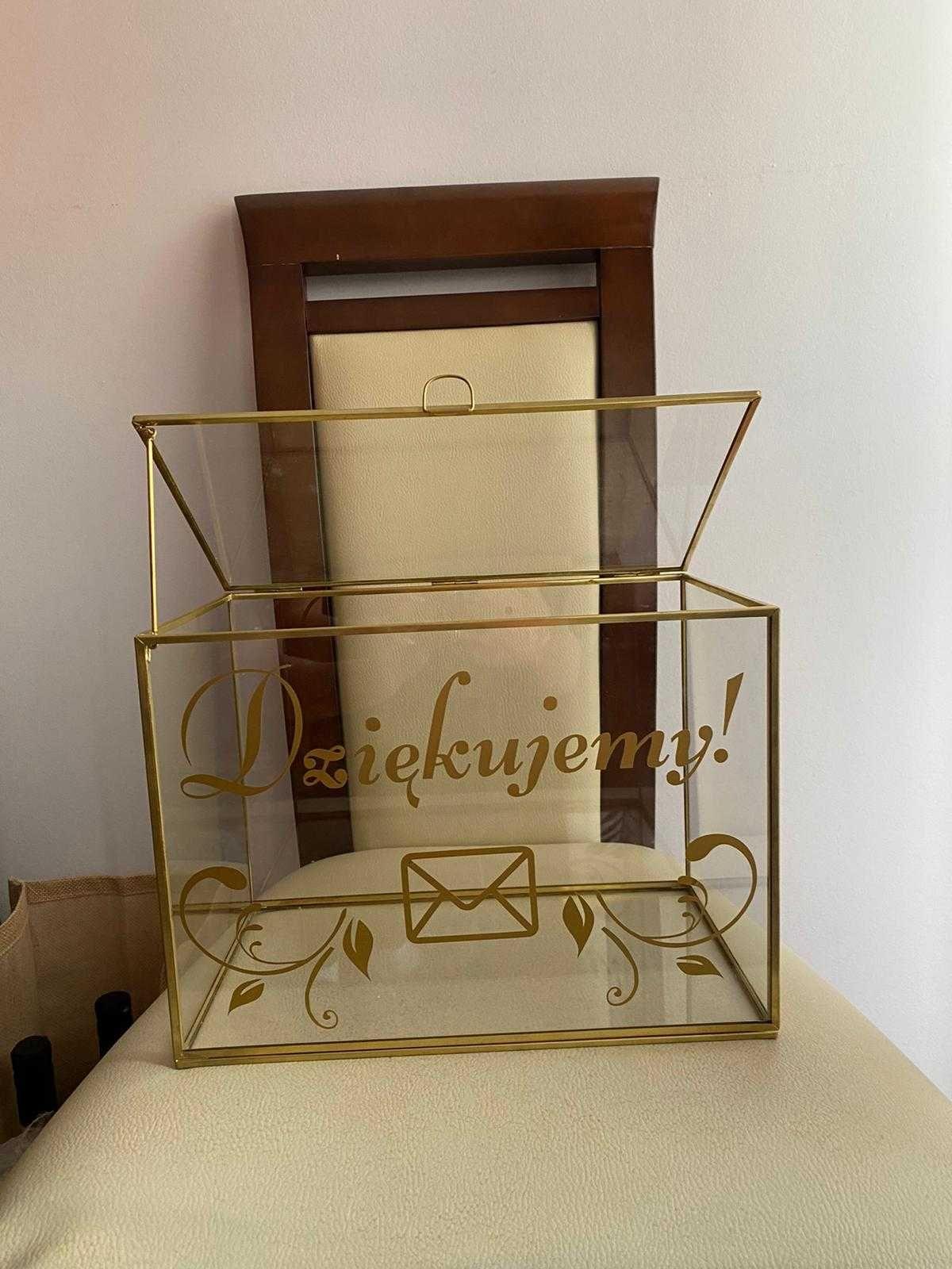 Przepiękna szkatułka weselna na koperty. Skrzynka na koperty na ślub