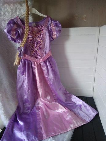 Маскарадное нарядное платье принцессы Рапунцель Дисней 7-8 лет, 128 см