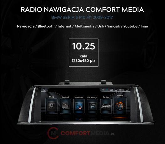RADIO NAWIGACJA ANDROID 9.0 BMW 5 F10 F11 rok od 2009 do 2017