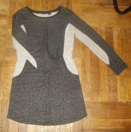 Тёплое платье 134-140