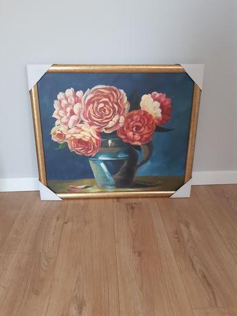 Nowe obraz kwiaty w wazonie i piękny widok oraz 2el.obraz kwiaty
