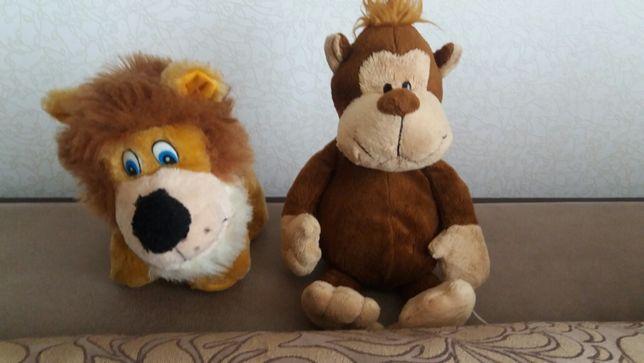 Львёнок и обезьянка мягкие игрушки