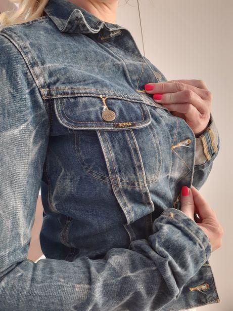 Kurtka damska jeans Lee katana jeansowa S ramoneska denim must Have