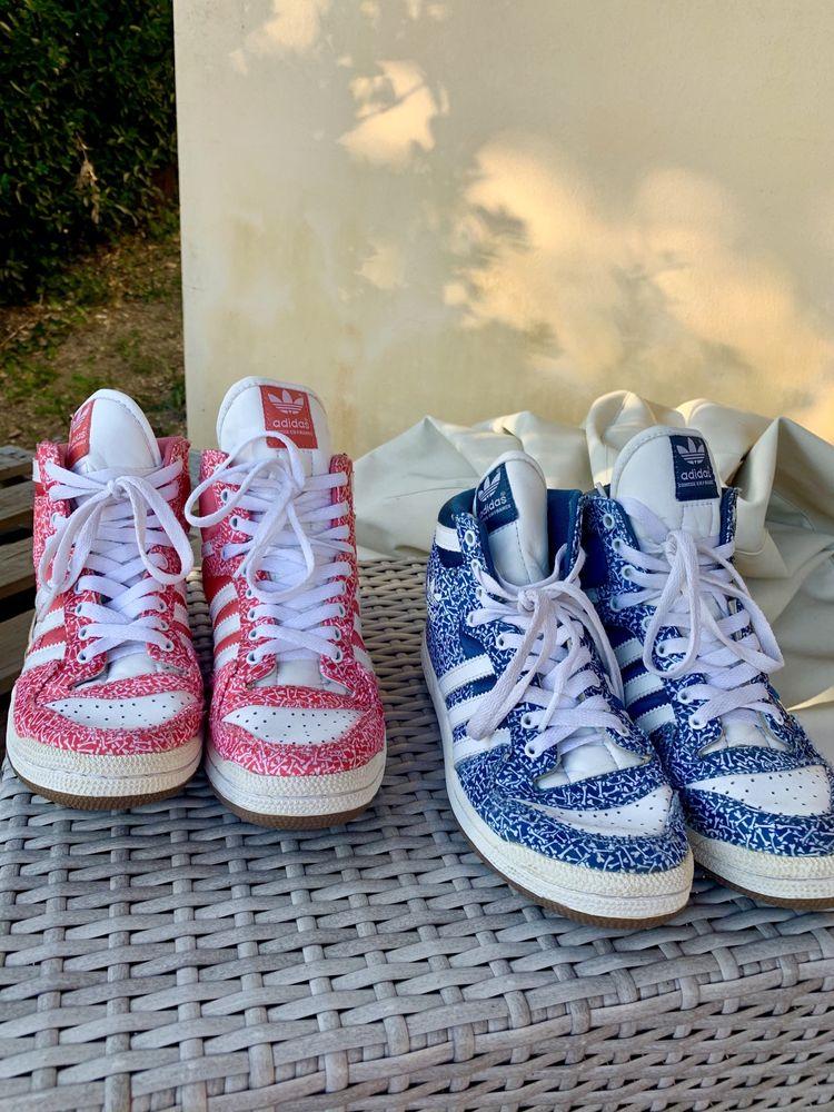 2 pares sapatilhas adidas (estilo jordan)