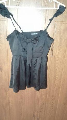 Super bluzeczka czarna elegancka roz.36!!!