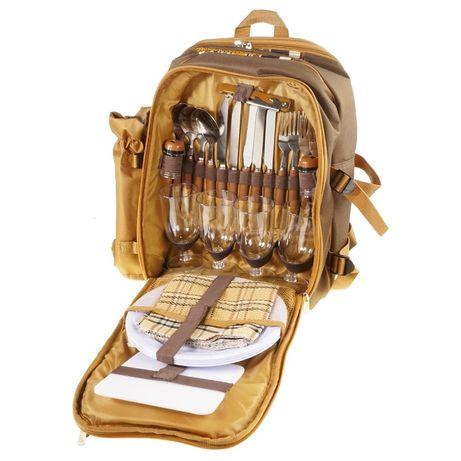 Рюкзак с набором для пикника на 4 персоны