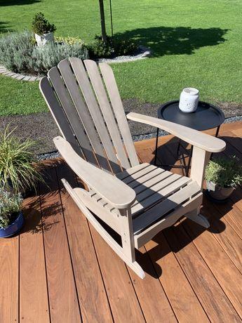 Fotel tarasowy, ogrodowy, bujany, drewniany - Tchibo