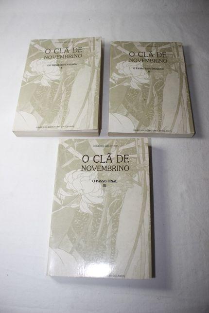 livros O Clã de Novembrino vol. I, II , III de Henrique Abranches