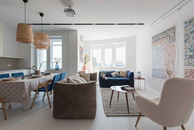 Новая, видовая, стильная квартира на берегу Днепра, 8 минут до центра